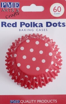 Red Polka Dots Baking Cases 60