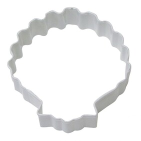 SeaShell Cookie Cutter 8.25cm White